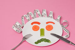 Diet Salad Face Stock Images