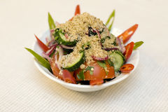 Diet salad on a plate Stock Images