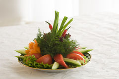 Diet salad on a plate Royalty Free Stock Images