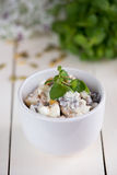 Diet salad with soy nuts Stock Photos