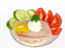 Diet sandwich stock photography