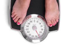 Diet Scale. Weight loss on diet scale Stock Photo