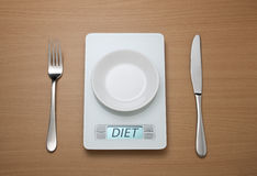 Diet Scale Weight Watching Royalty Free Stock Image