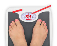 Diet scale Royalty Free Stock Images
