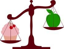 Diet scales apple cake Stock Image