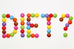 DIET? Smarties Chocolates stock images