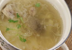 Diet soup with meat Stock Photos