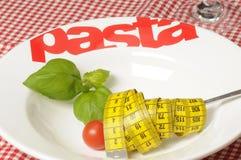 Diet spaghetti salad stock photography