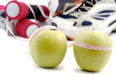 Diet and sport Royalty Free Stock Photography