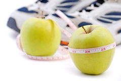 Diet and sport stock photography