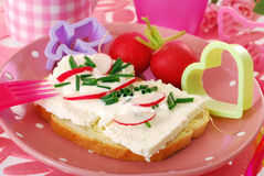 Diet spring breakfast for child Royalty Free Stock Images