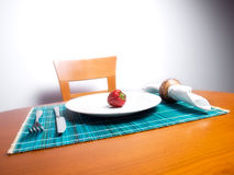 Diet with strawberry Stock Photos