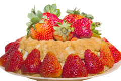 Diet strawberry shortcake. Stock Photo