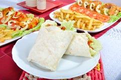 Diet surimi as kebab Stock Image