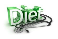Diet text, 3d medicine Concept Stock Image