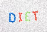 Diet text made of drugs Royalty Free Stock Image