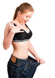 Diet Time. Happy woman after seing results from her diet Stock Images