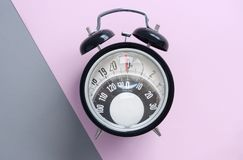 Diet time clock royalty free stock photos