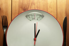 Diet time concept Stock Images