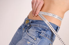 Diet time measuring Royalty Free Stock Images