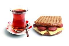 Diet toast and tea Stock Photos