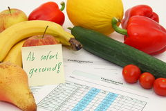 Diet and training Royalty Free Stock Photography