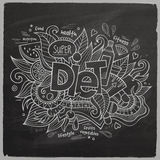 Diet Vector hand lettering On Chalkboard Stock Images