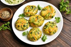 Diet vegetable cutlet Royalty Free Stock Photos
