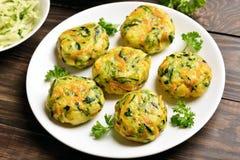 Diet vegetable cutlet Stock Image