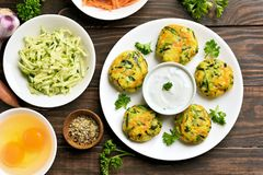 Diet vegetable cutlet Royalty Free Stock Images