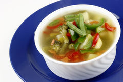 Diet vegetable soup Stock Photo