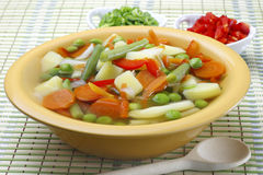 Diet vegetable soup Royalty Free Stock Photos