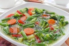 Diet vegetable soup Stock Photo