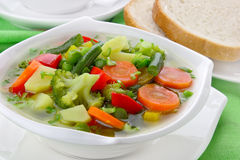 Diet vegetable soup Stock Images