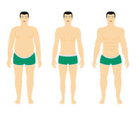 Before and after diet weight loss Royalty Free Stock Photography