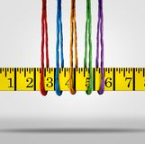Diet Support Weight Loss Concept. Diet and weight loss support group as diverse ropes holding a tape measure as a 3D illustration Royalty Free Stock Photos