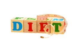 Diet Wooden Blocks Royalty Free Stock Photo