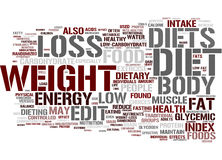 Diet word cloud Royalty Free Stock Photography