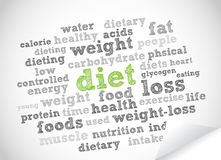 Diet word cloud. Vector background Royalty Free Stock Photo