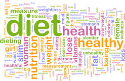 Diet word cloud stock illustration