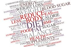 DIET word cloud Stock Images