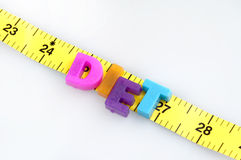 Diet word on cm ruler Stock Photos