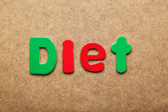 Diet word Royalty Free Stock Photography