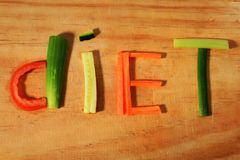Diet. Word diet made from vegetables Stock Image