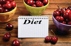Diet word on notepad Royalty Free Stock Image