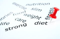 Diet word Stock Photography
