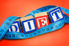 Diet word Stock Image