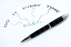 Diet word Royalty Free Stock Photos