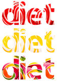 Diet Words Abstract. Isolated On White Made Of Lollipop Texture Stock Photography