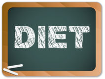 Diet written on blackboard Royalty Free Stock Photos